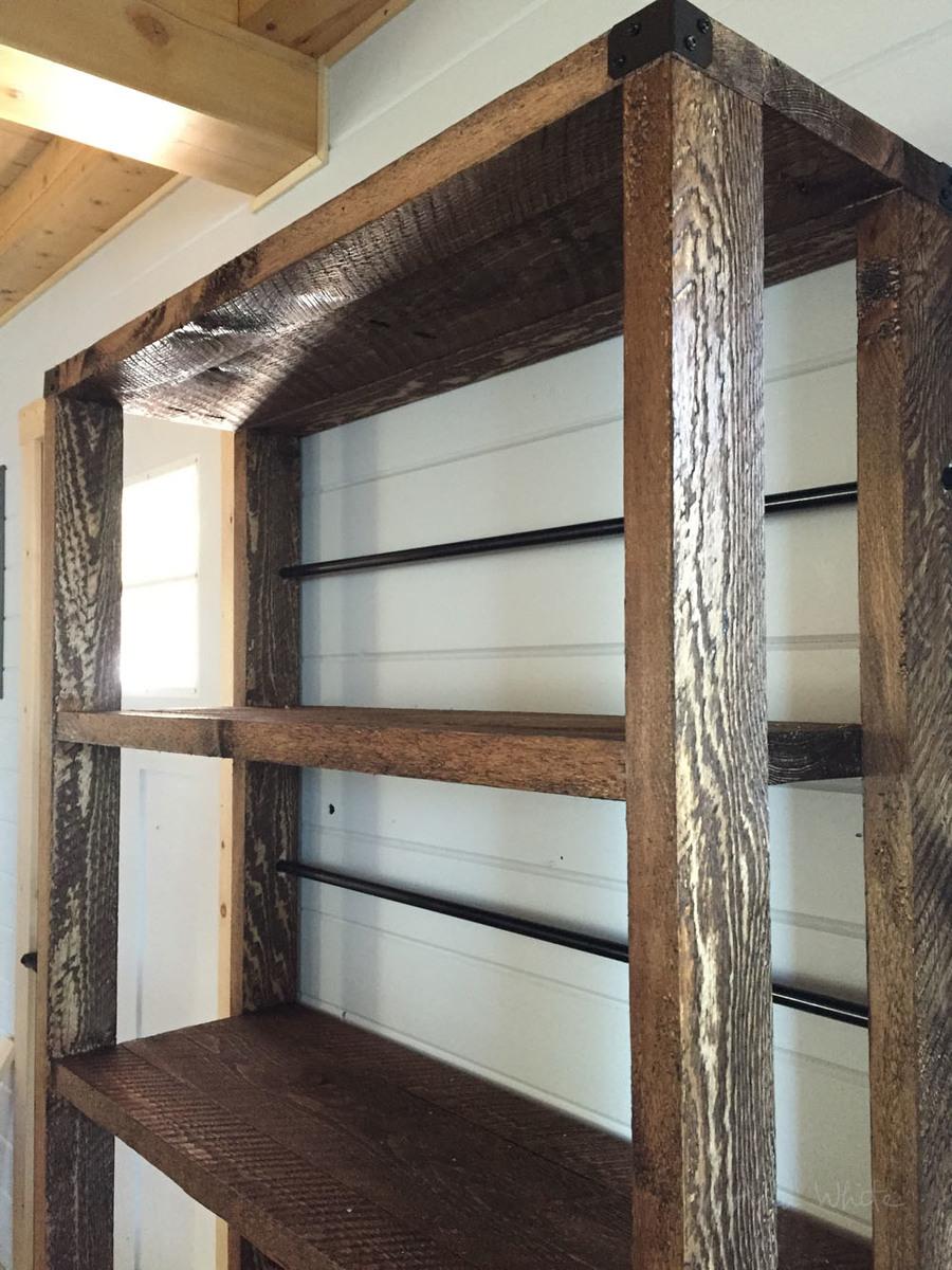 Reclaimed Wood Rolling Shelf Ana White
