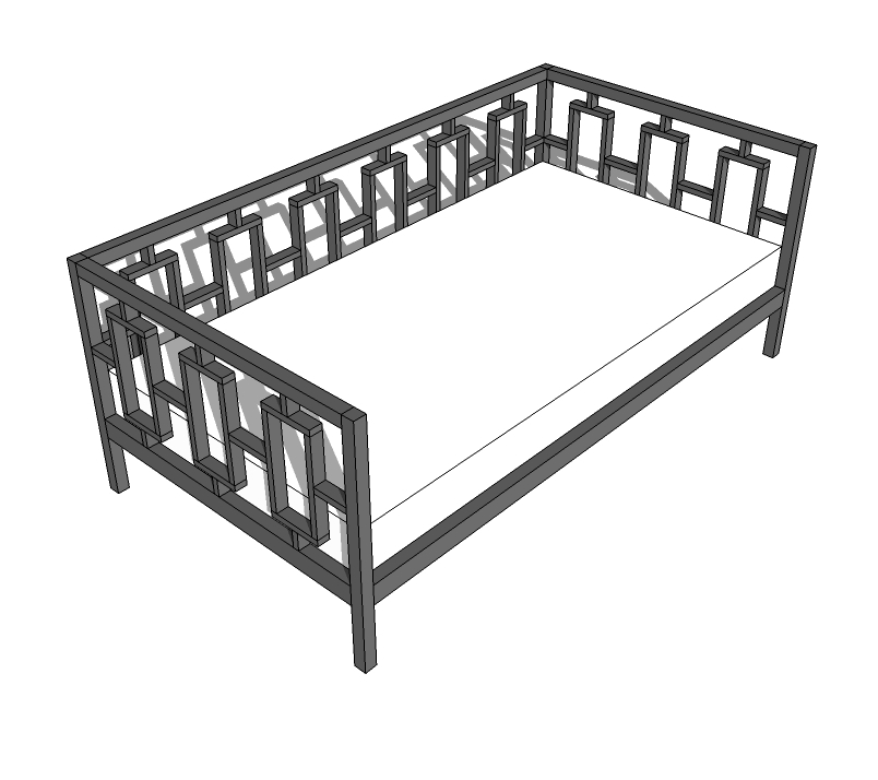 A Modern Style Daybed, Featuring A Modern Pattern On Back And Arms. Free  Easy Step By Step Plans To Save You Money Off West Elm Furniture.