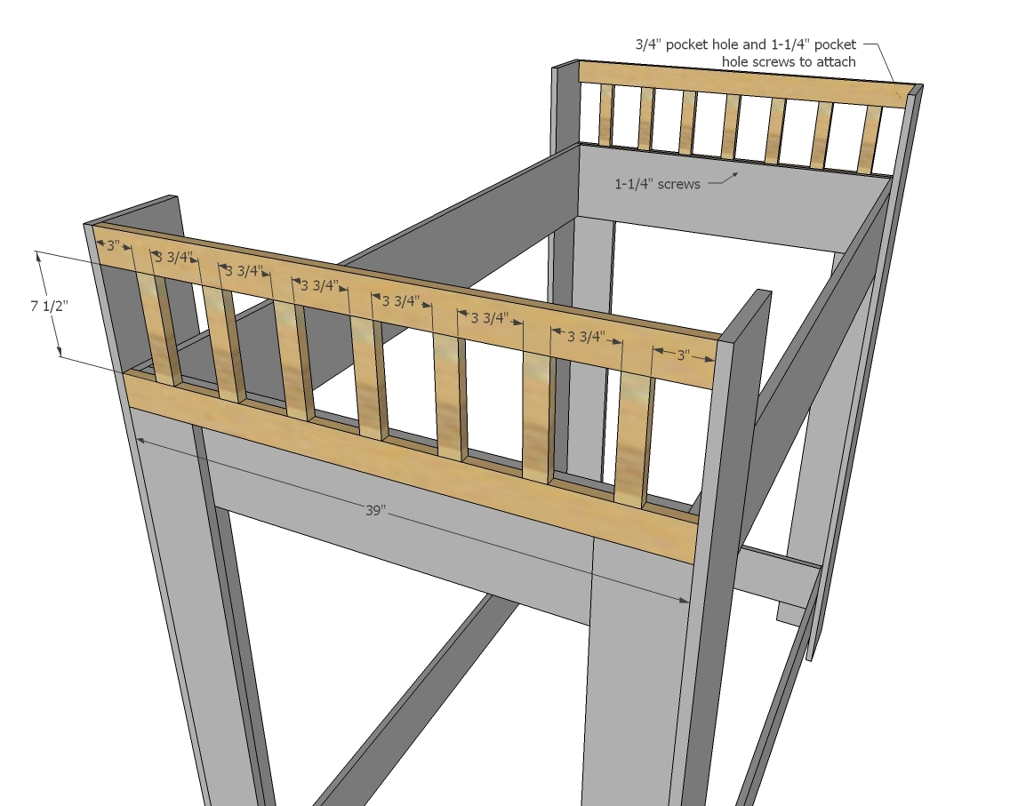 Ana white rustic modern bunk bed diy projects for Rustic bed plans