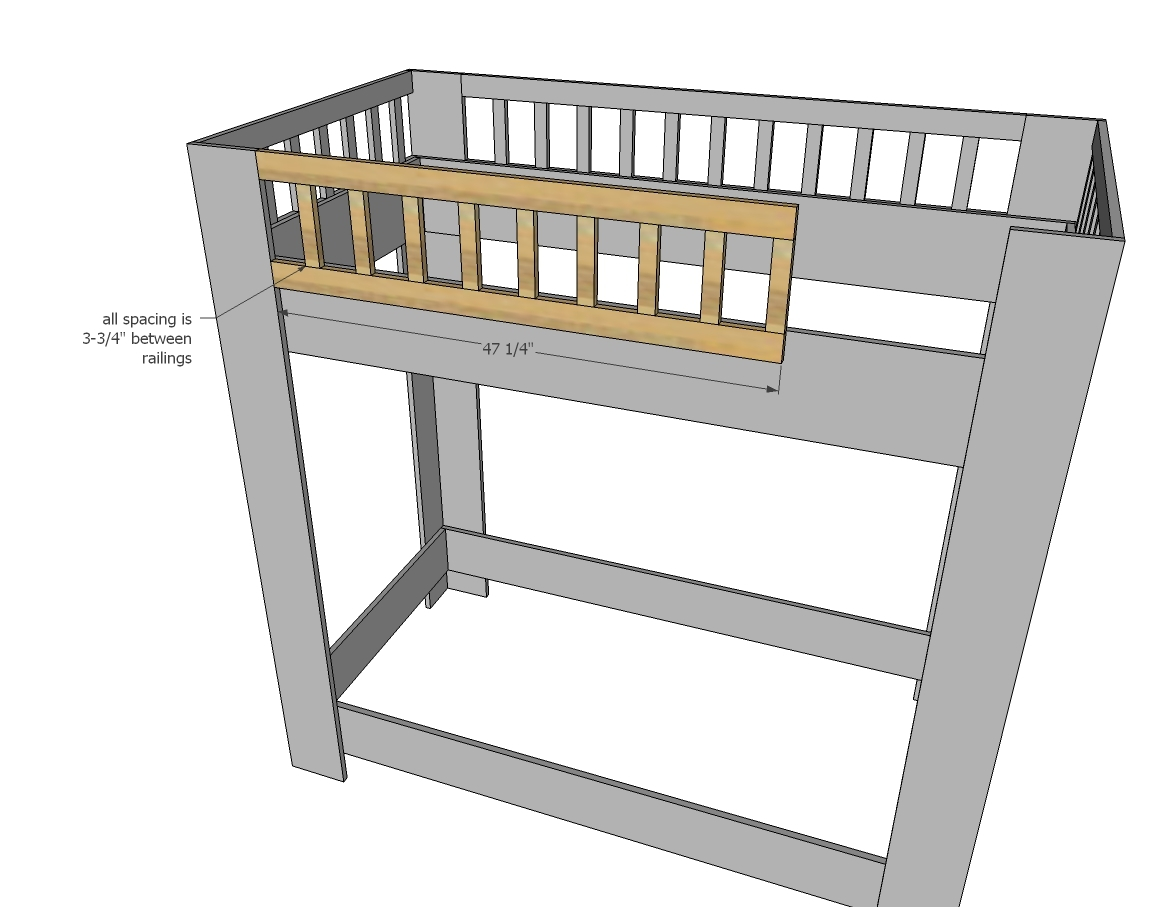 ^ na White ustic Modern Bunk Bed - DIY Projects