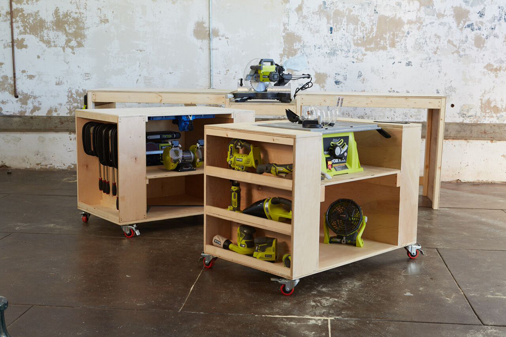 Cool Ultimate Roll Away Workbench With Miter Saw Stand Ana White Ncnpc Chair Design For Home Ncnpcorg