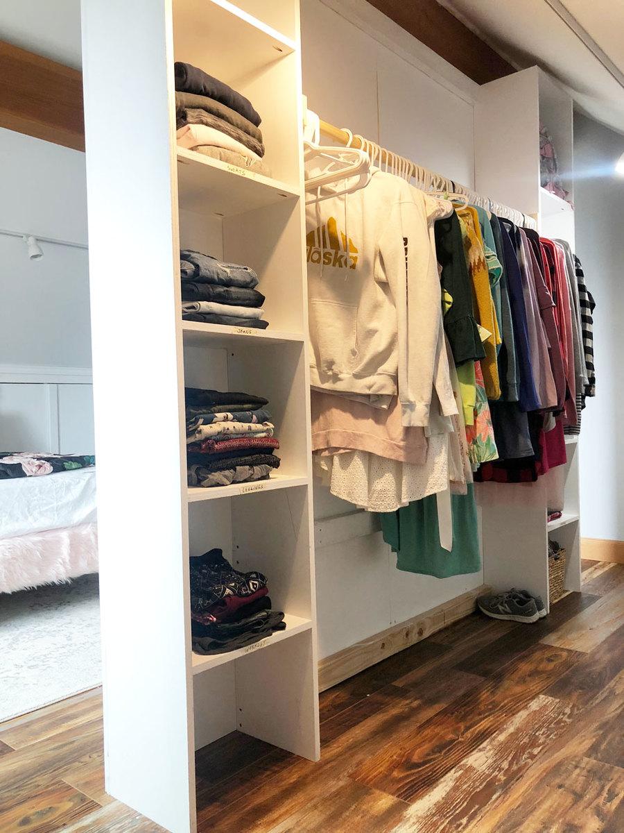 Room Divider Closet   Ana White