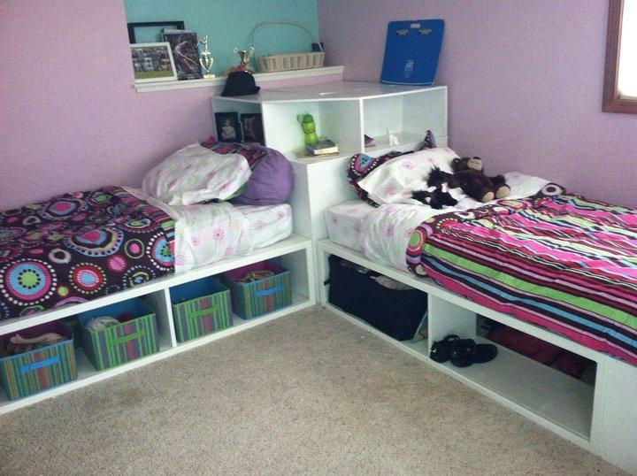 Ana White | Storage beds (twin) with Corner unit - DIY ...
