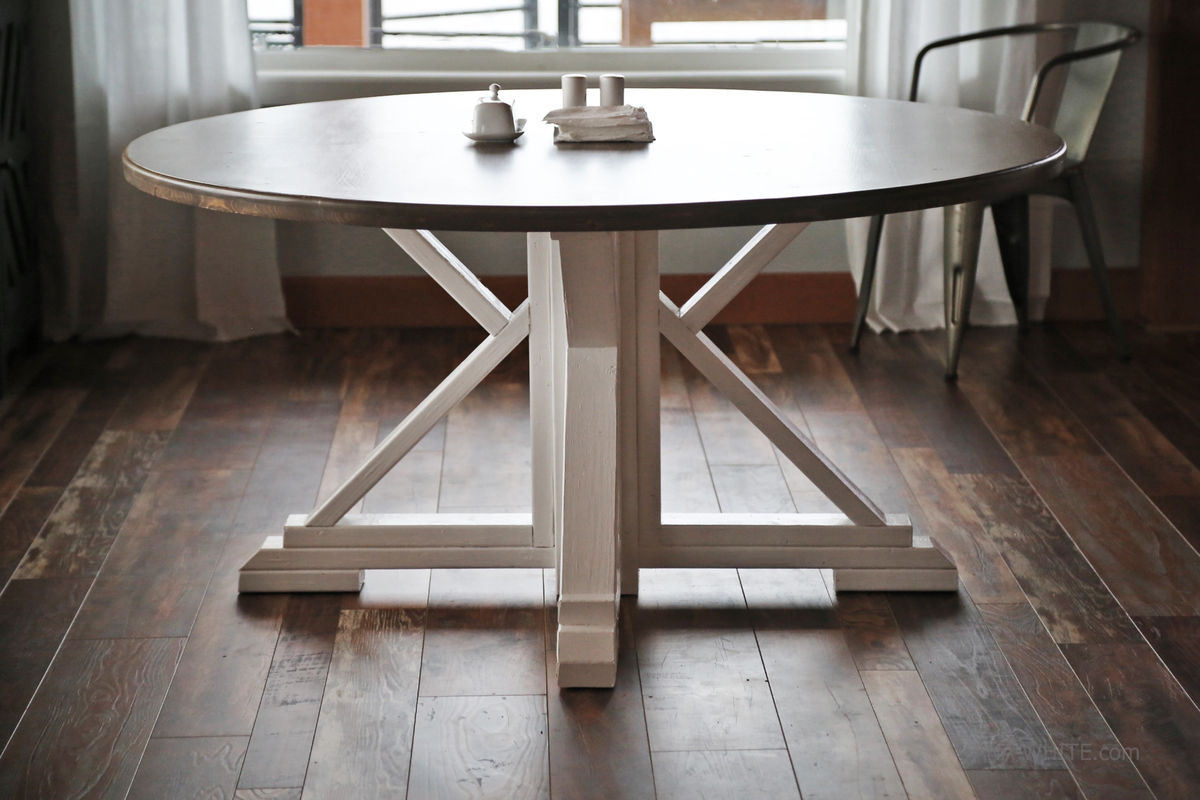 Round Farmhouse Table Ana White