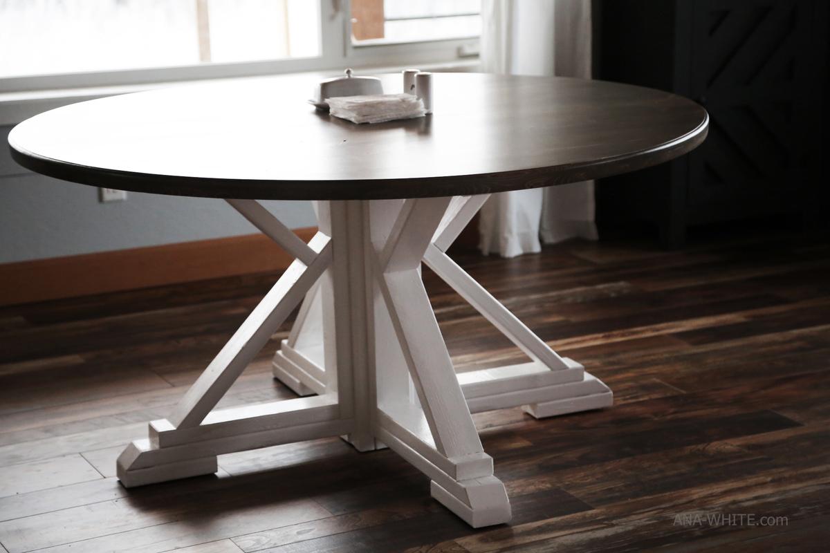 - Round Farmhouse Table Ana White