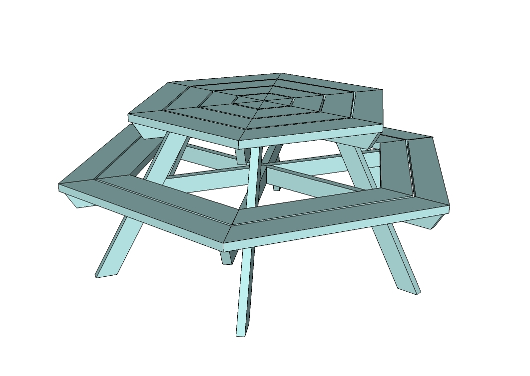free plans for building a round picnic table | Quick ...
