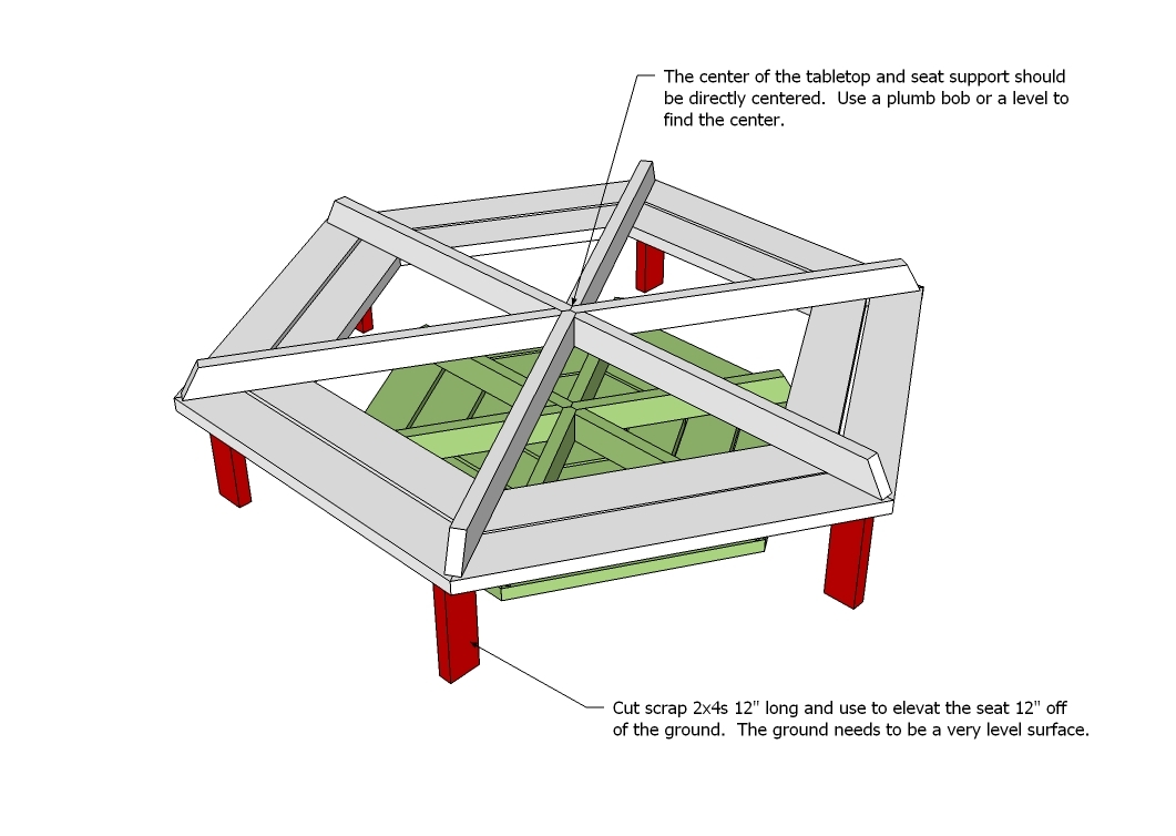 picnic table plans free octagon | Woodworking Community Projects