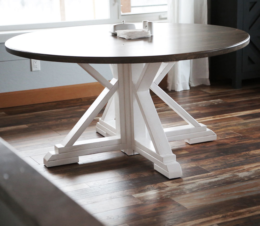 Incredible Round Farmhouse Table Ana White Download Free Architecture Designs Scobabritishbridgeorg