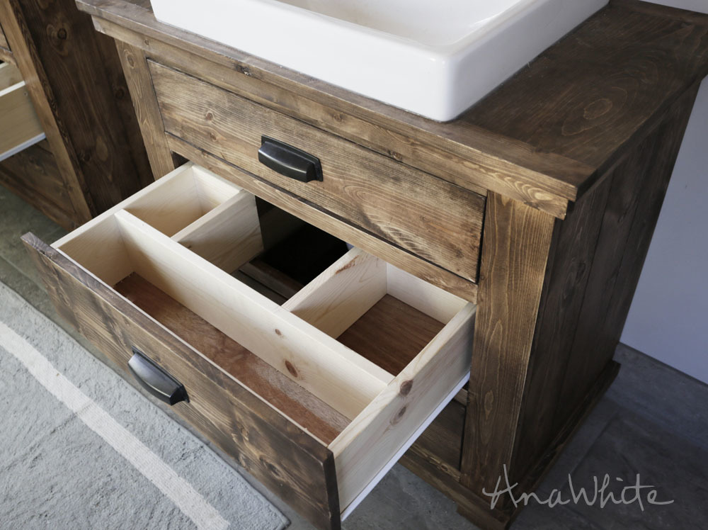 diy rustic bathroom vanity white rustic bathroom vanities diy projects 18160