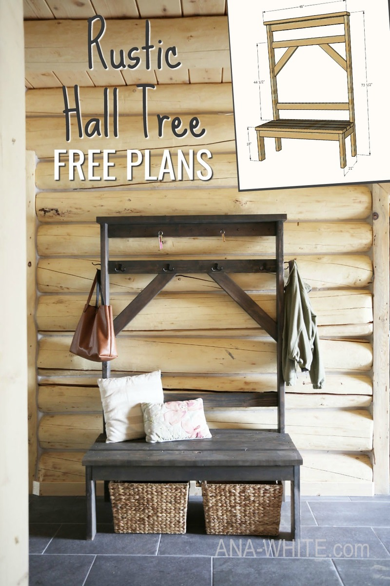 Diy Farmhouse Style Hall Tree For Pool Towels The Frugal Homemaker