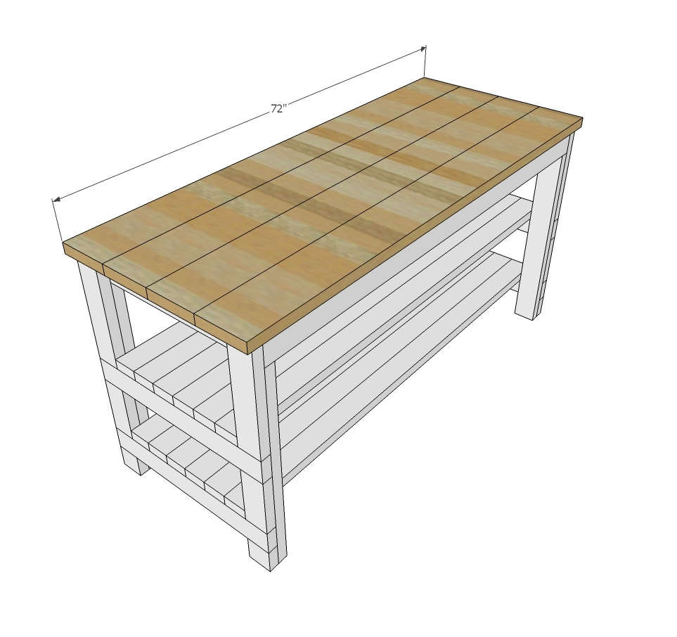 Ana White   Rustic Kitchen Island - Built by House Food Baby - DIY ...