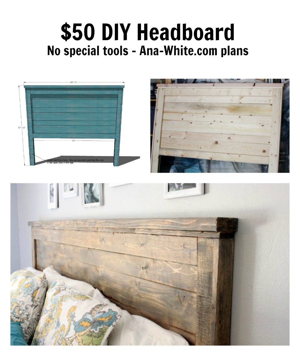 Reclaimed Wood Headboard Queen Size Ana White