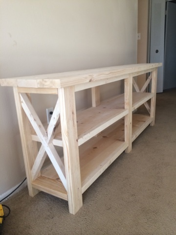 Ana White Rustic X Console Diy Projects
