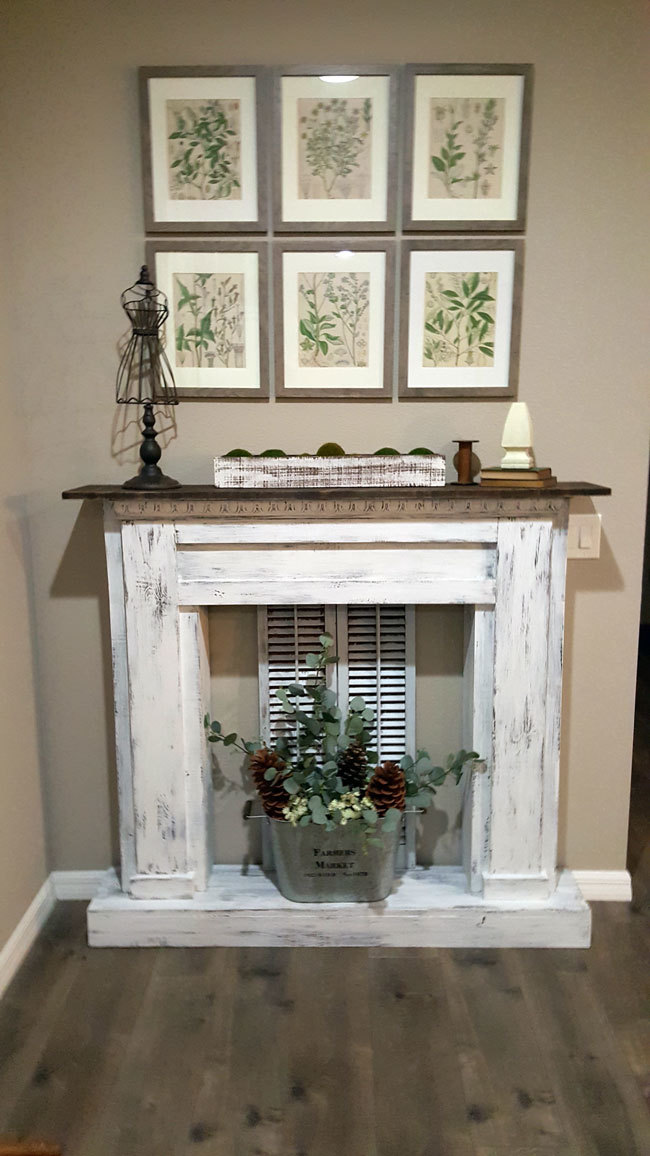 Distressed Finish Fireplace Ana White