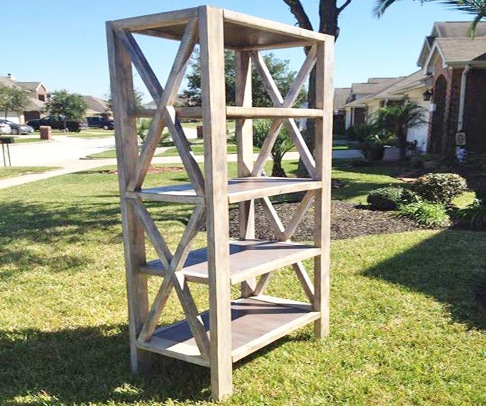 reputable site 76b5d 16f3d Rustic X Tall Bookshelf | Ana White