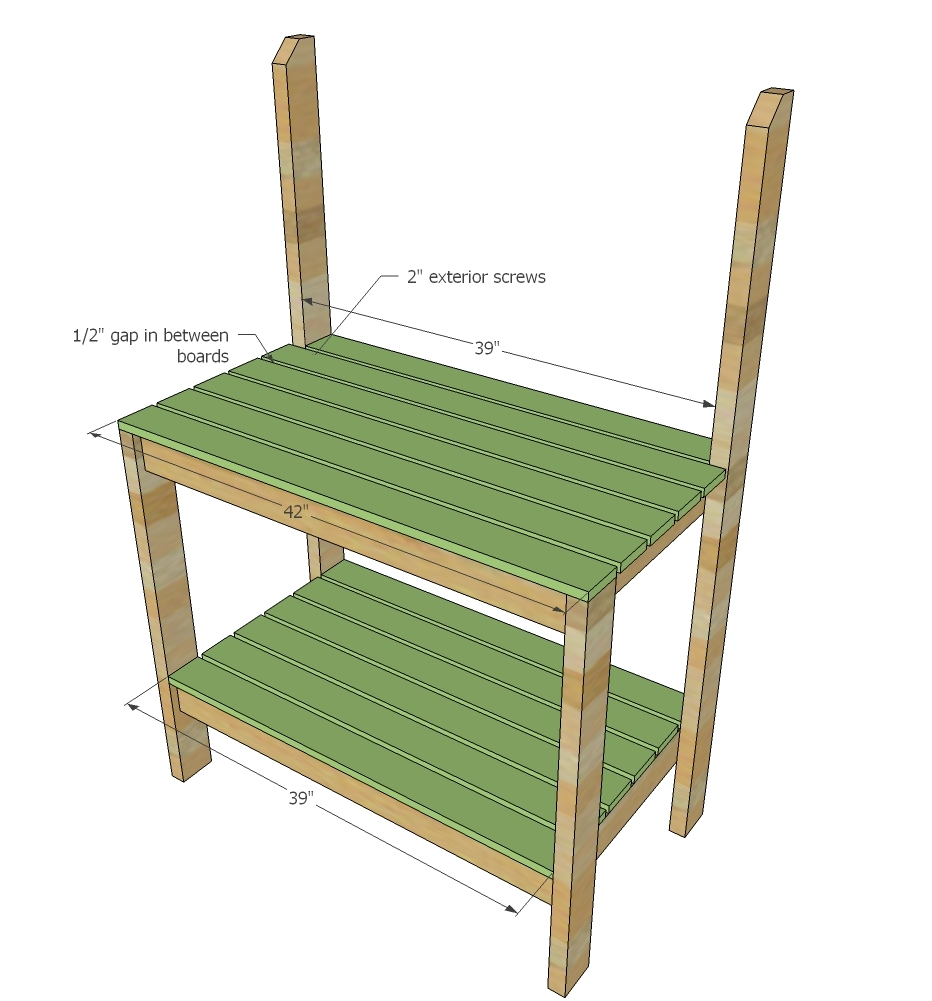 Prime Simple 2X4 Potting Bench Ana White Squirreltailoven Fun Painted Chair Ideas Images Squirreltailovenorg