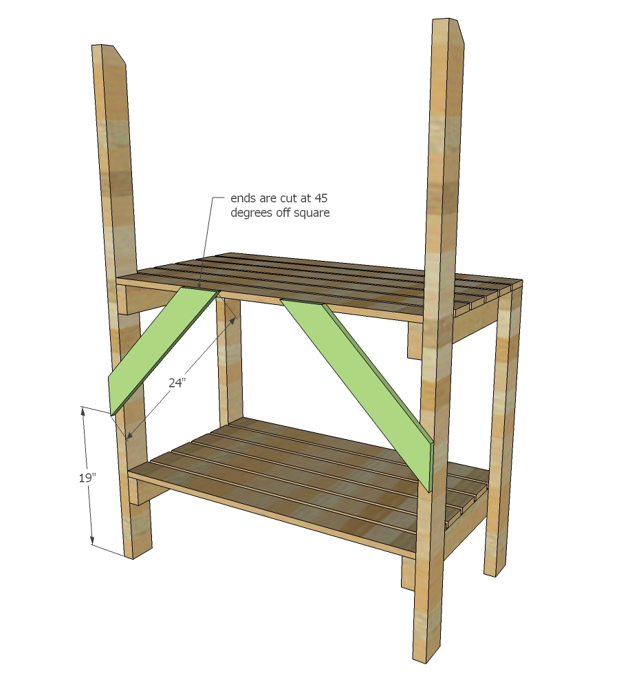 Brilliant Simple 2X4 Potting Bench Ana White Squirreltailoven Fun Painted Chair Ideas Images Squirreltailovenorg
