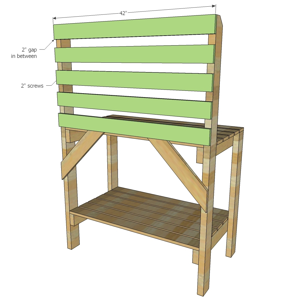 Swell Simple 2X4 Potting Bench Ana White Squirreltailoven Fun Painted Chair Ideas Images Squirreltailovenorg