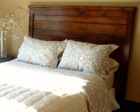 ana white  reclaimedwood look headboard, king size  diy projects, Headboard designs