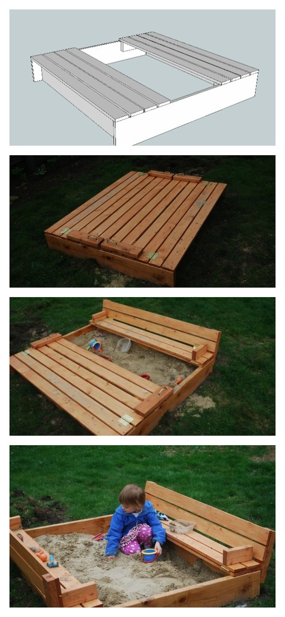Sand Box With Built In Seats Ana White