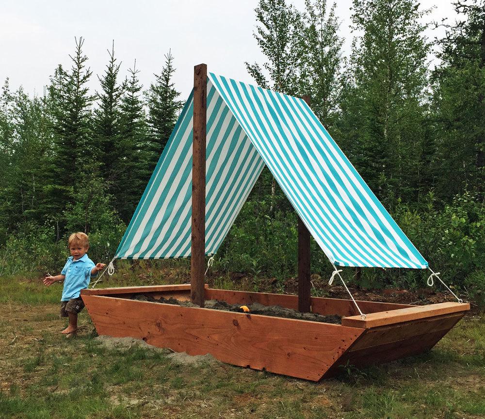Boat Sandpit Ana White