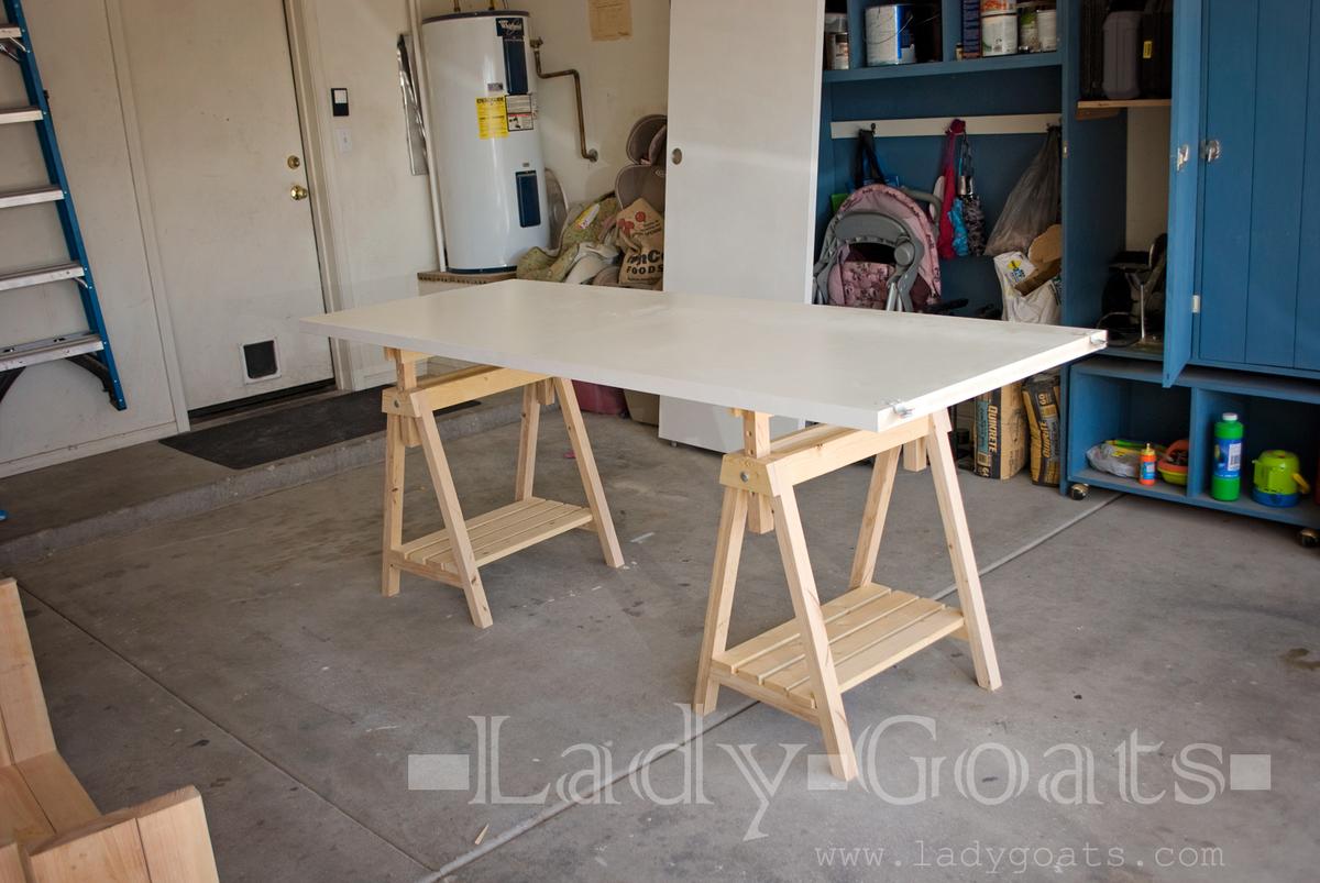 Ana White Adjustable Height Sawhorse Diy Project Affordable Diy Adjustable Standing Desk