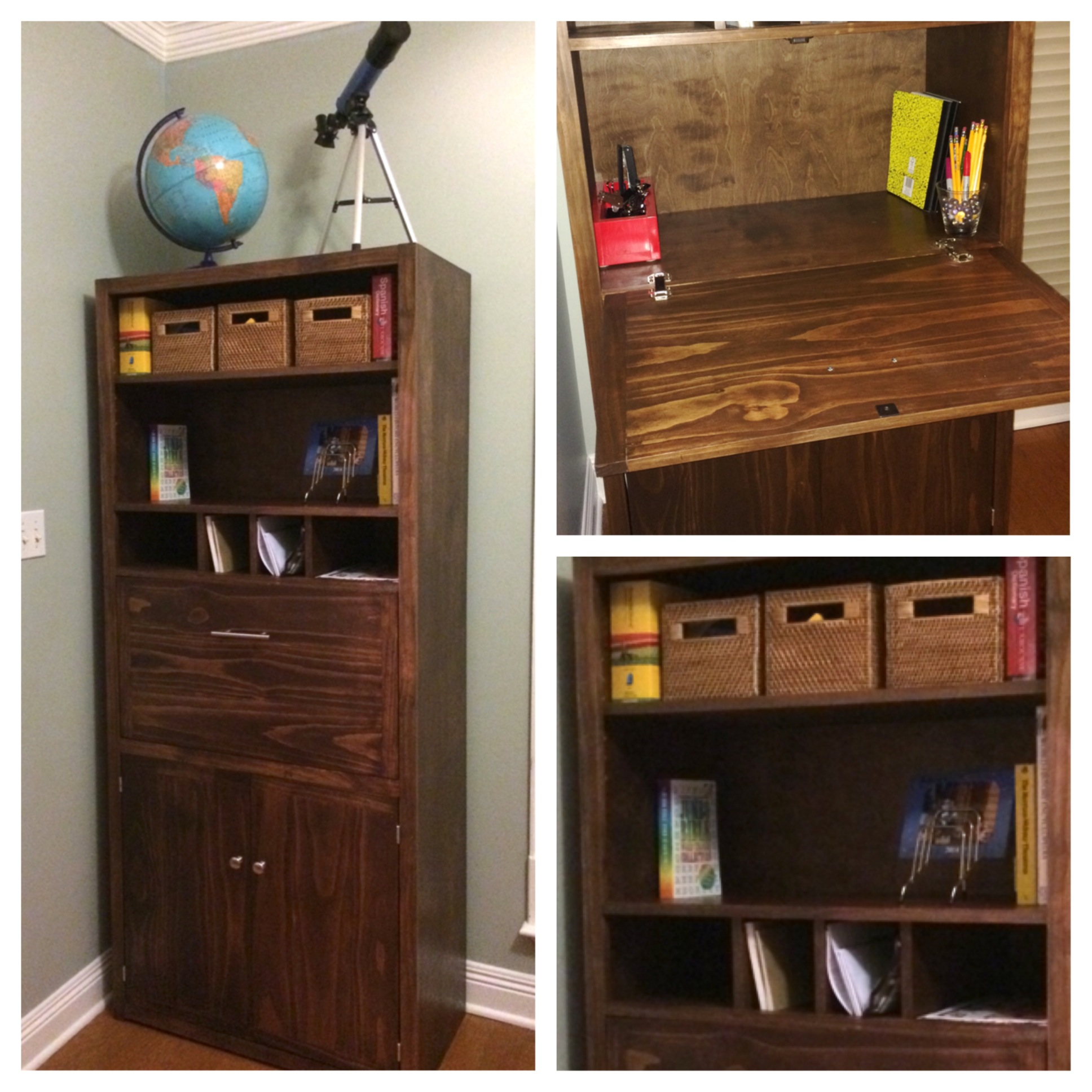Tall Secretary Cabinet With Modifications