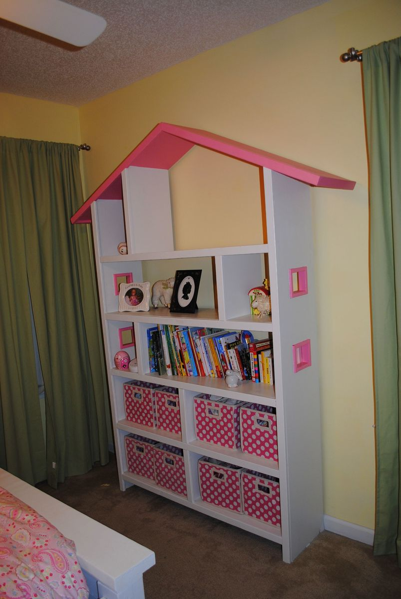 Ana white doll house book case diy projects - Adorable dollhouse bookshelves kids to decorate the room ...
