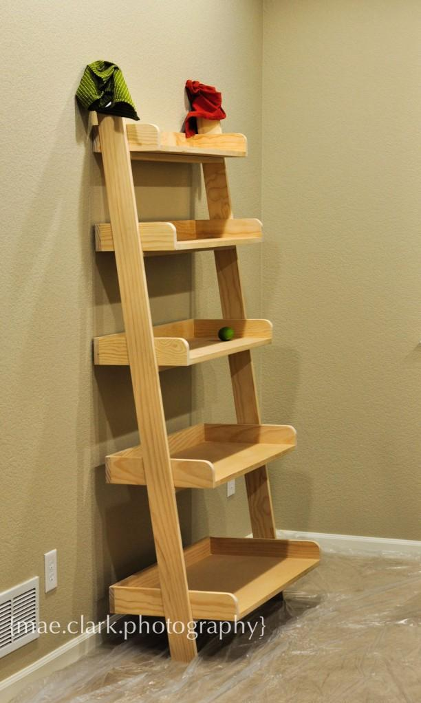 Large Leaning Shelves Featuring Five Ranging In Size From To Small This Shelf Will And Stylize Any E