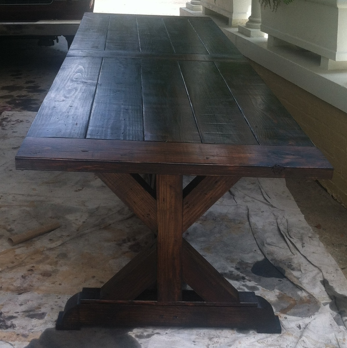 Ana White Dining Room Table: 10.5' Farmhouse Dining Table - DIY Projects