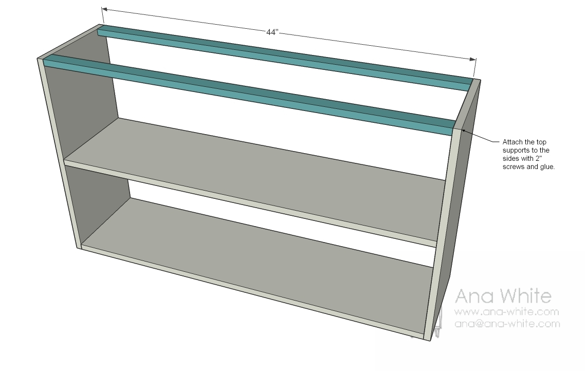 Simple Bookshelf Plans Attach The Supports