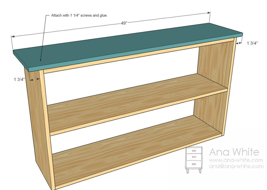 Ana White | Grace's Bookshelves - Plans for Two - DIY Projects