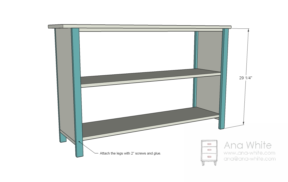 Ana White Grace S Bookshelves Plans For Two Diy Projects