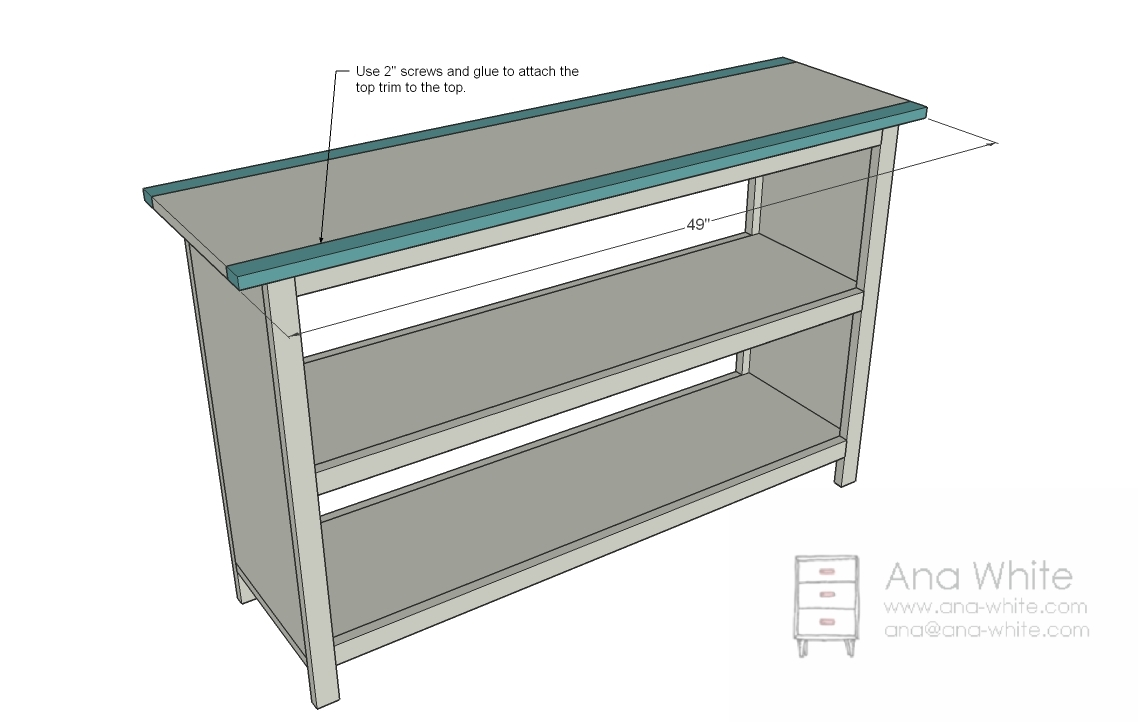 Shelf Trim Attach The Just Like You Did Legs Should Also Fasten 2 Finish Nails Through Sides Of Into