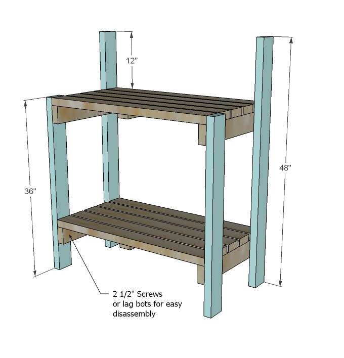 Exceptional Gardening Bench Plans Part - 12: Simple Potting Bench