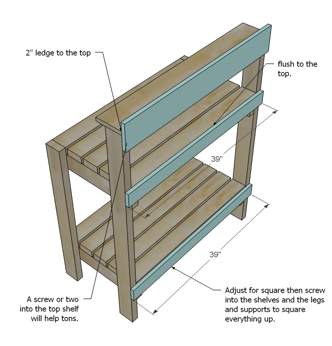 Ana White Simple Potting Bench DIY Projects