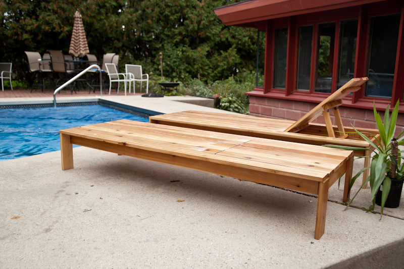 single lounger for the simple modern outdoor collection diy projects