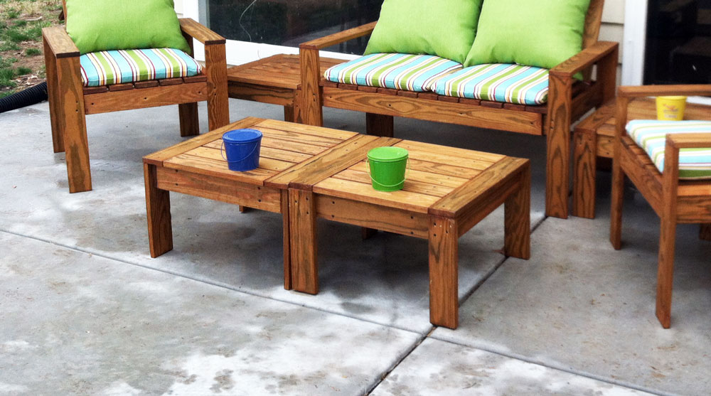 modern wood outdoor furniture
