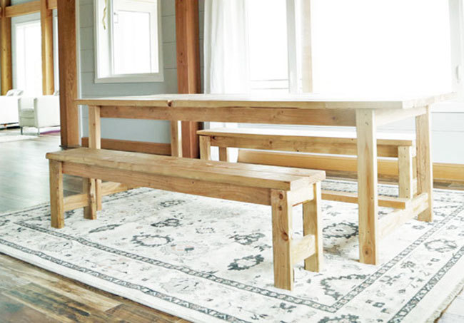 Beginner Farm Table Benches 2 Tools 20 In Lumber Ana