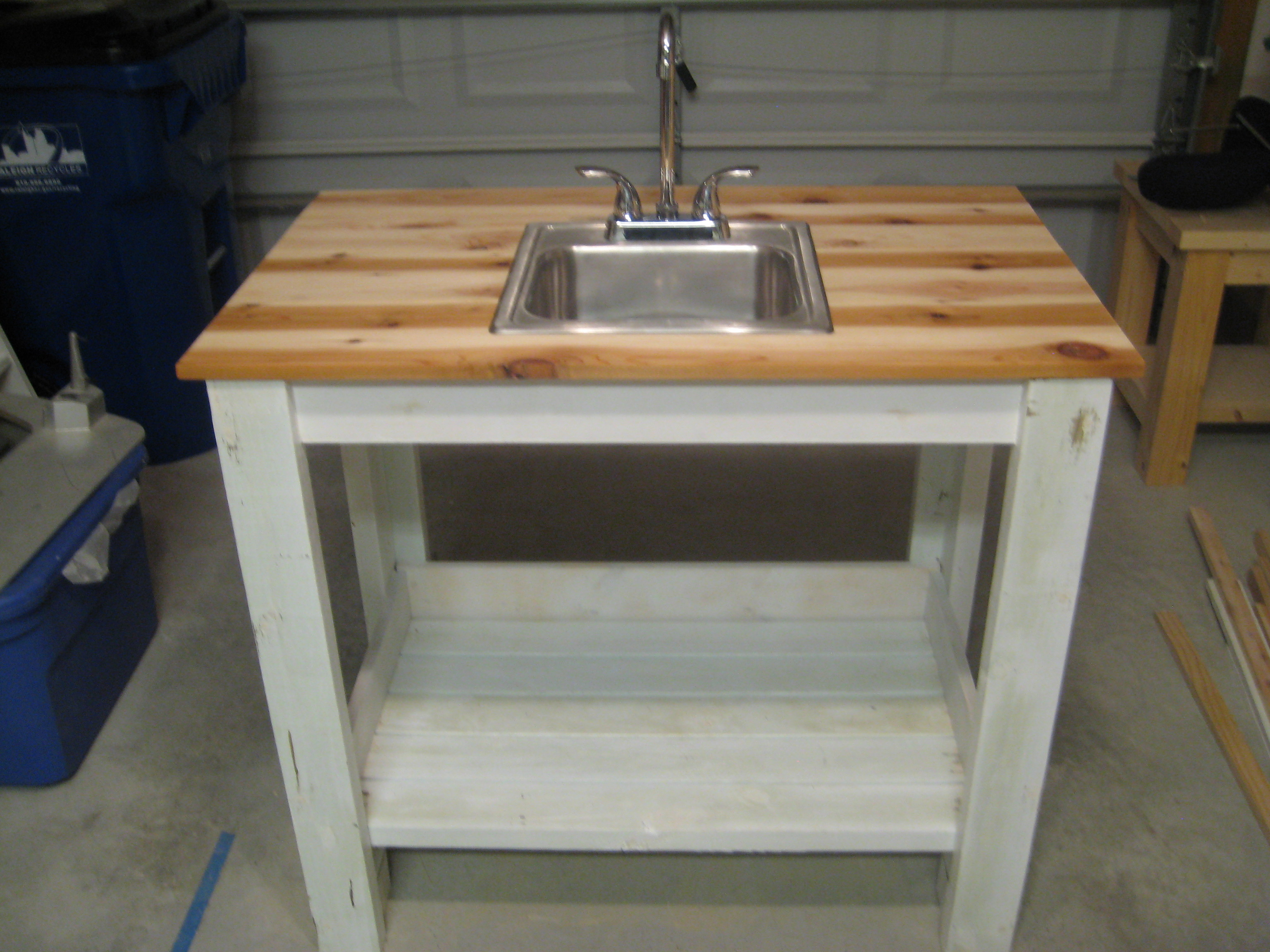 My Simple Outdoor Sink Ana White