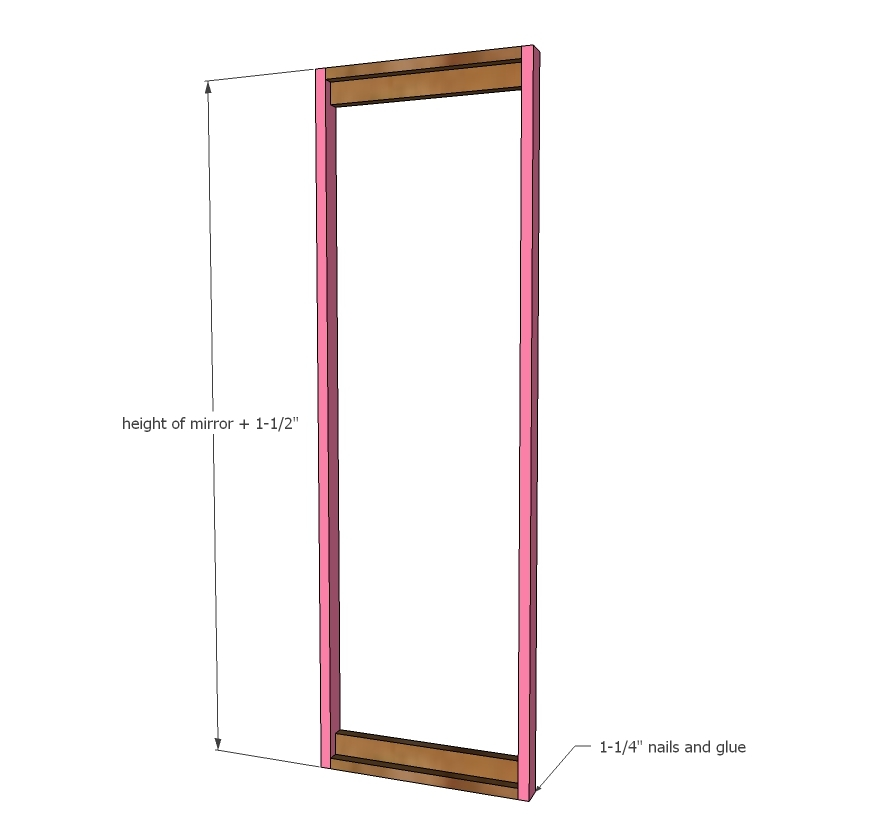 Dimensions Ana White Full Length Mirror Sliding Beauty Storage Cabinet Diy Projects