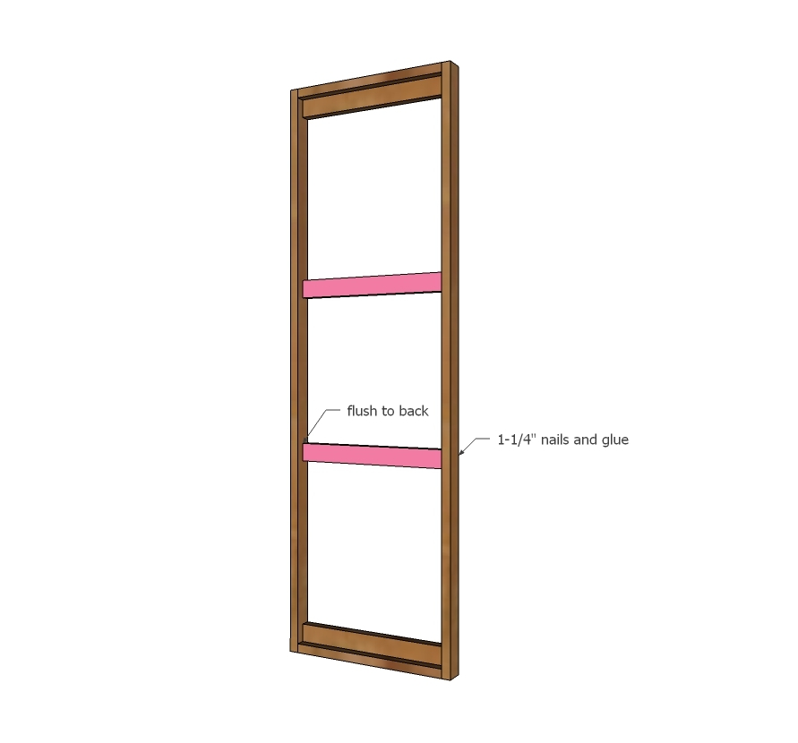 Cute Attach sides to the L pieces to make the mirror frame with nails and glue All outside edges are flush Adjust for square