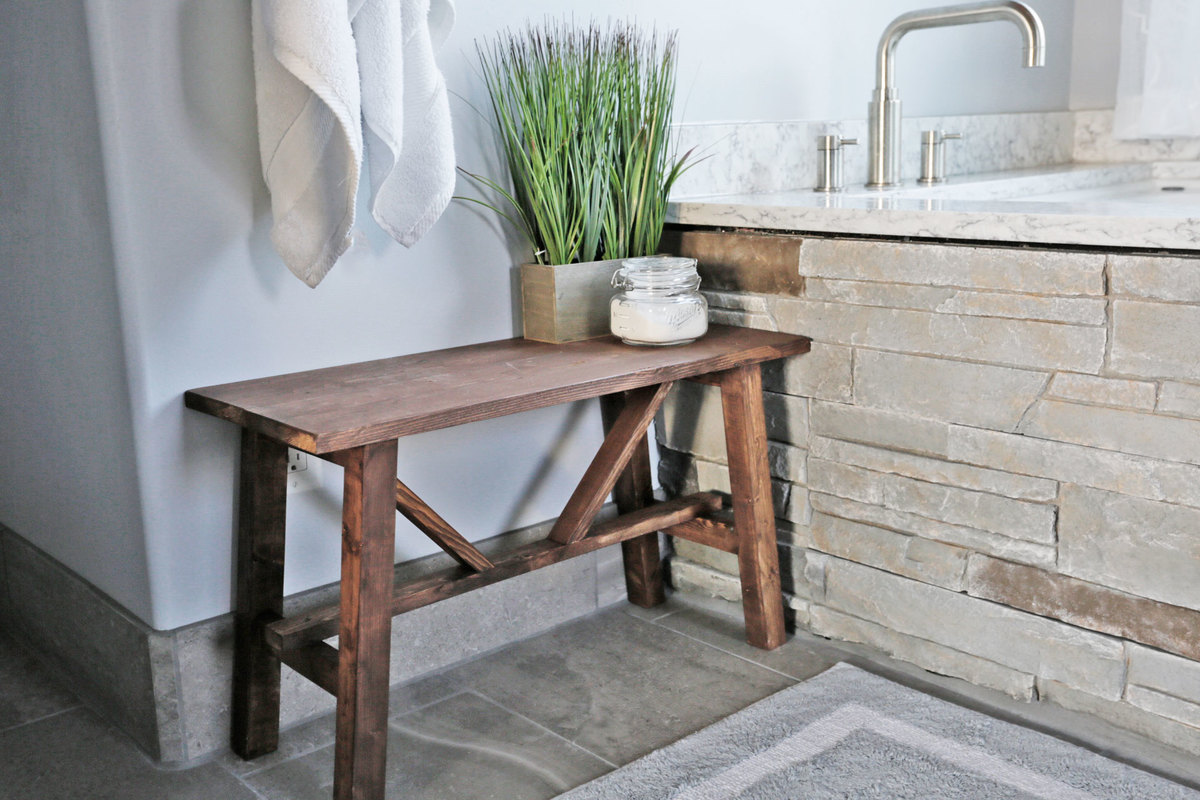 Ana White | Small Rustic Bench - DIY Projects
