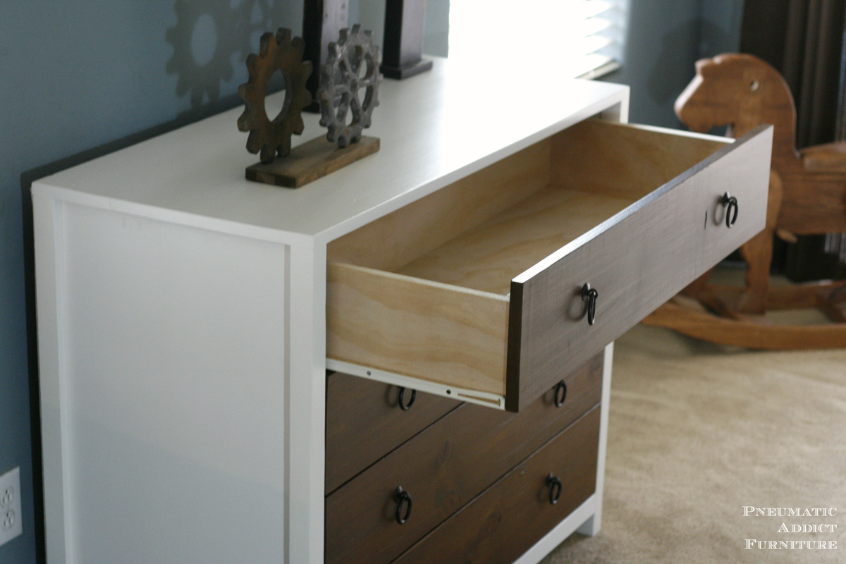 Diy Modern Dresser With Wood Drawers Inspired By Pottery Barn Kids Jordan Free Plans Ana White