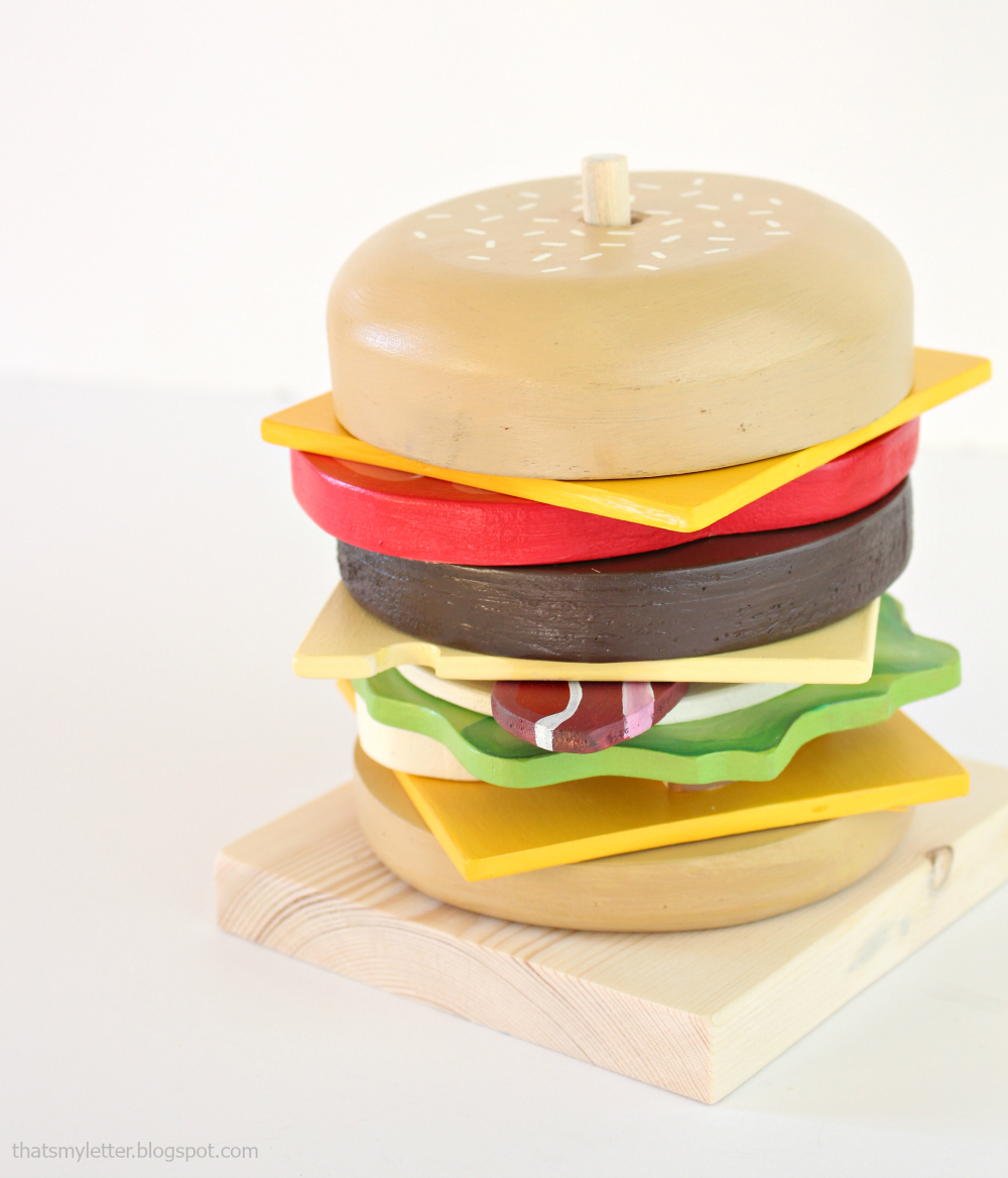 Stacking Rings Hamburger Toy