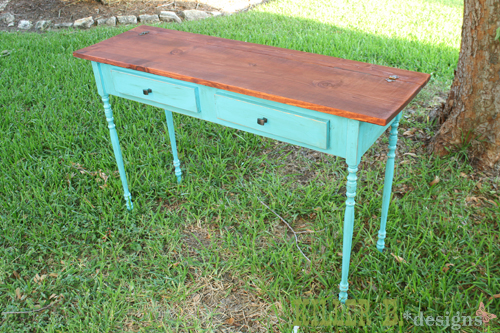Distressed Turquoise With Chocolate Glaze
