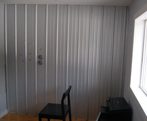 Metal Sheeting For Walls ana white | steel magnet wall - diy projects
