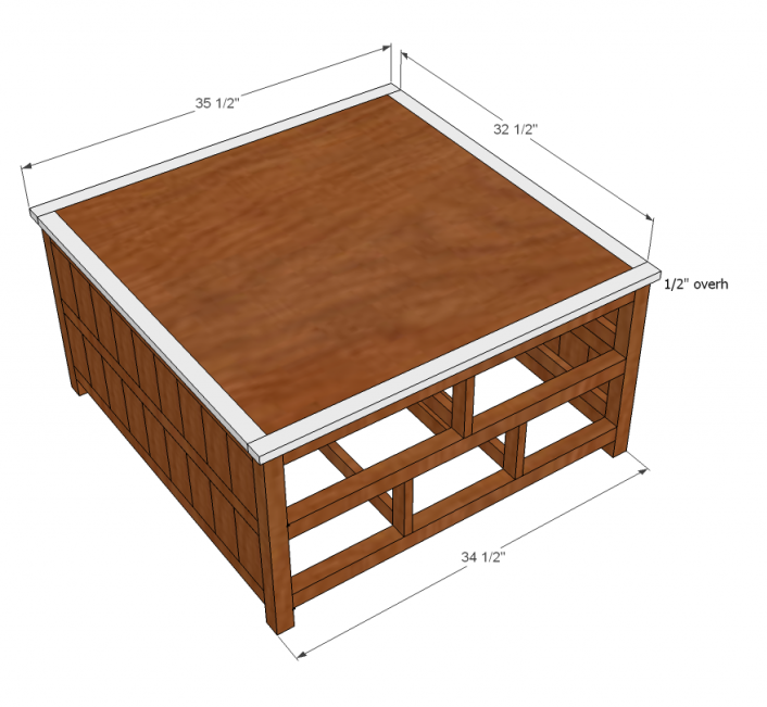 Ana White Square Solutions Coffee Table Plans DIY Projects
