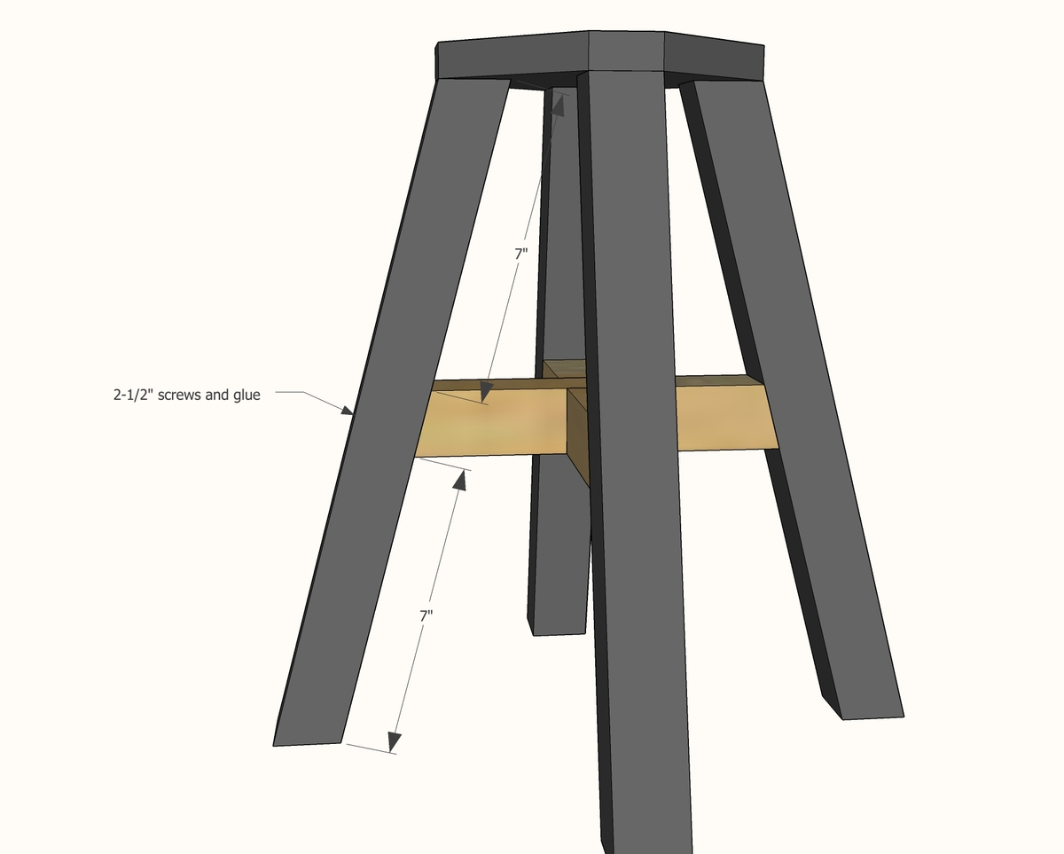 sc 1 st  Ana White & Ana White | Adjustable Height Wood and Metal Stool - DIY Projects islam-shia.org