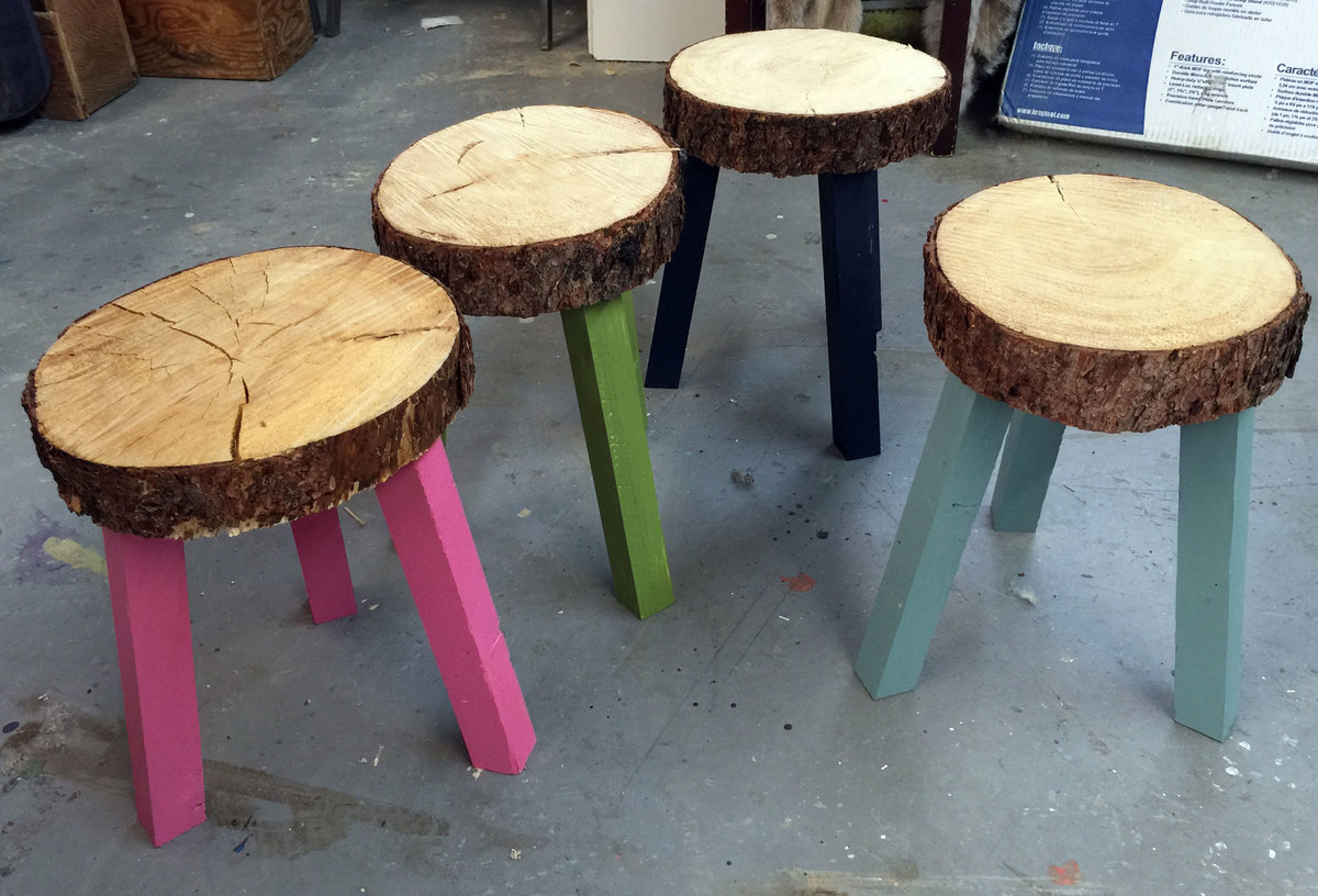 Ana White Stump Stools From Building Off The Grid Alaska